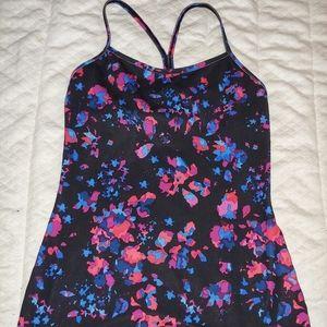Lululemon Black Floral Power Y